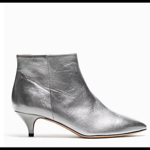 24459c66c140 Kate Spade Olly Silver Bootie